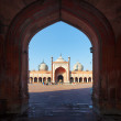 Indian Delhi landmark - Jama Masjid mosque — Stock Photo