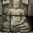Medieval carving - Buddha. Borobudur temple. — Stock Photo