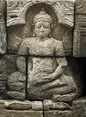 Medeltida carving - buddha. borobudur templet. — Stockfoto
