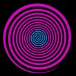 Loopable video 1920x1080 - Classical colored rotating spiral. Animation for hypnosis — Stock Video