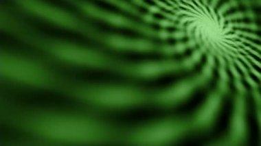 Loopable wideo 1920 x 1080 - hipnotyczny szalony zielone spirali na ekranie — Wideo stockowe