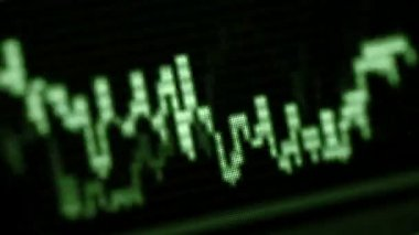 Loopable video 1920x1080 - Oscilloscope screen close-up. Green acoustic waves — Stock Video