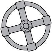 Een eenvoudige afbeelding van het gas-ventiel — Stockvector