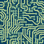 High tech schematic seamless vector texture - electronic circuit — Stock Vector