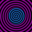Loopable video 1920x1080 - color rotating spiral. Animation for hypnosis — Stock Video