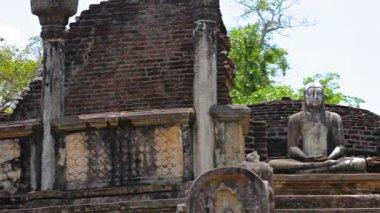 Video 1920 x 1080 - ruiny starověkého buddhistického chrámu. srí lanka, polonnaruwa — Stock video