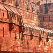 Constructions of old Indian Red Fort — Stock Photo