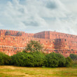 Panorama of the ancient Red Fort in Agra. India — Stock Photo