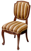 Old striped wooden chair isolated on white — Stock Photo
