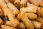 Spring rolls on the market close up — Stock Photo