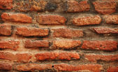Red brickwork close-up — Foto Stock
