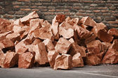Pile of red stones — Stock Photo