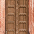 Old wooden door - part of Indian architecture — Stock Photo