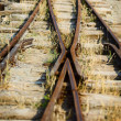 Switch on the old narrow-gauge railway — Stock Photo