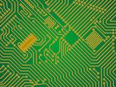 Hi-tech green industry electronics vector background — Stock Vector
