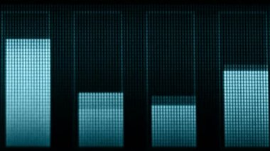 Video 1920x1080 - Indicators of volume of different frequencies on the screen — Stock Video