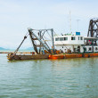 Stock Photo: Old dredge. Thailand