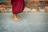 Legs of buddhist monk. Burma (Myanmar) — Stock Photo