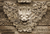 Stone mythical creature - decoration of Bali temple — Foto Stock