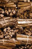 Firewood prepared for ritual fire. Indonesia, Bali — Stock Photo