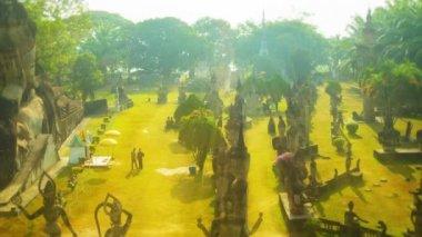 Video 1920x1080 - Sculpture Buddha Park (Xieng Khuan) — Stock Video