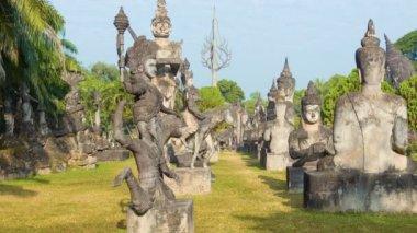 1080p video - Sculpture Buddha Park (Xieng Khuan). Vientiane, Laos — Stock Video
