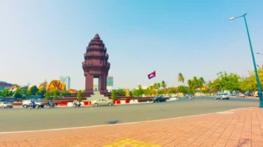 High definition video - Independence monument in Phnom Penh — Stockvideo