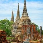 Wat Phra Si Sanphet temple. Thailand, Ayutthaya Province — Stock Photo