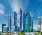 Business center with skyscrapers - Moscow City, Russia — Stock Photo