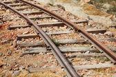 The old narrow-gauge railway — Stock Photo