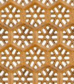 无缝模式。古代的传统装饰-棕色砂岩 — 图库照片