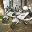 PHNOM PENH, CAMBODIA - 29 DEC 2013: Cambodian police modern moto — Stock Photo