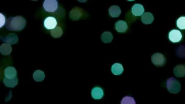 Video 1080p - Blurred blue, green and violet lights and sparkles - loopable abstract background — Stock Video