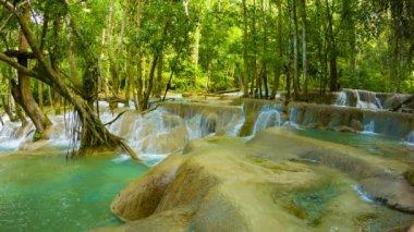 Video 1080p - Kouang Si Waterfall, Laos, Luang Prabang. General view — Stock Video