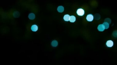 Video 1080p - Sparkling blue lights on a black background — Stock Video