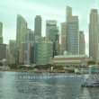 Video 1080p - View of the skyscrapers of Singapore on a cloudy day — Stok video #51205027