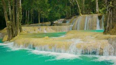 Video 1080p - Fallsview on Kouang Si Waterfall, Laos, Luang Prabang — Stock Video