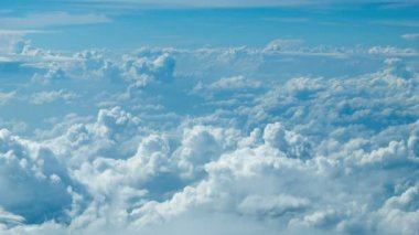 Video 1080p - Cumulus clouds. Top view from the aircraft — Stock Video