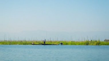 Video 1080p - Plantations on water Inle Lake. Myanmar — Stock Video