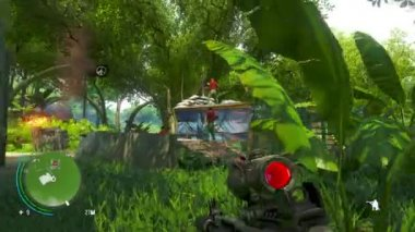 PHUKET, THAILAND - CIRCA JUL 2014: Gameplay of computer game Far Cry 3 - one of the most popular computer games — Vidéo