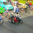 BANGKOK, THAILAND - 22 NOV 2013: Motorcycle and car traffic on a city street — Stock Video #51493149
