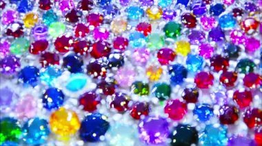 Video 1080p - Abstract composition - synthetic diamonds in a shop window — Stock Video