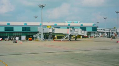 Video FullHD - Parking place for passenger planes at the airport of Singapore — Stock Video