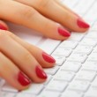 Female hands on computer keyboard - typing — Stock Photo #5444354