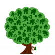 Vector illustration of a green eco tree — Stock Vector