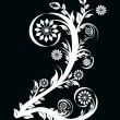 Vector illustration of the number two made with floral ornament — Imagen vectorial