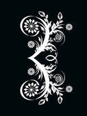 Vector illustration of the number three made with floral ornamen — Stock Vector