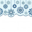 Vector illustration of an abstract snowflakes background - Stock Vector