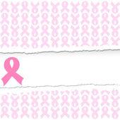 Vektor illustration av en rosa bandet breast cancer support backg — Stockvektor