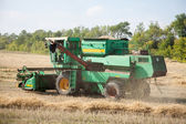 The combine to harvest on the field — Stock Photo